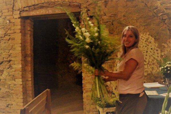 Květiny od Ivetky pro hradní kapli